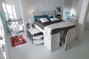 cabina armadio sotto il letto